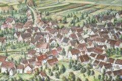 Rotfelden von oben, wo sich die Wege aus Effringen, Pfrondorf und Ebhausen/Mindersbach treffen.